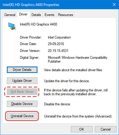 Rolling back the Integrated Graphics Driver to Fix Nvidia GeForce Experience Black Screen