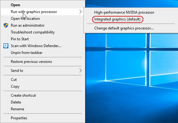 Running GeForce Experience with Integrated Graphics to Fix Nvidia GeForce Experience Black Screen